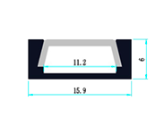 Led profil MINI IN - rozměry