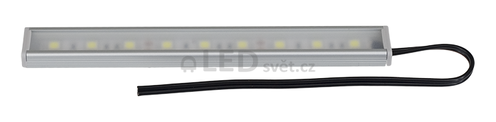 Sestava - al. profil surface, jemně matná krytka, bez  vypínače/ stmívače